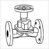 Gas valve. Industrial pipeline and Gas valve. Vector illustration Royalty Free Stock Photography