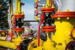 Gas valve for oil Stock Photos