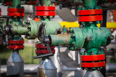 Gas valve for oil Stock Photo