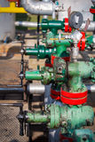 Gas valve for oil Stock Images