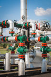 Gas valve for oil Stock Photos