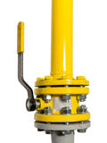 Gas valve with piping Stock Image