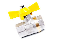Gas valve set isolated on white Stock Photo