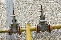 Gas valve taps Royalty Free Stock Photo