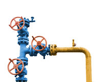 Gas valve tree. Royalty Free Stock Photography
