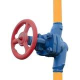 Gas valve on the tube Royalty Free Stock Photos