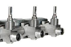 Gas valves Royalty Free Stock Photos