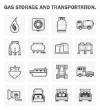 Gas vector icon. Gas storage and transportation icon sets Royalty Free Stock Photo