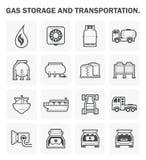 Gas vector icon Royalty Free Stock Photo