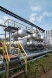 Gas-verwerkende de industrie Royalty-vrije Stock Afbeeldingen