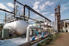 Gas-verwerkende de industrie Stock Fotografie