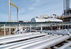 Gas-verwerkende de industrie Royalty-vrije Stock Afbeelding