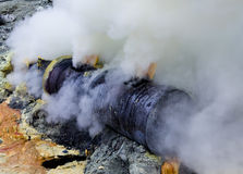 Gas vulcanico tossico Fotografie Stock
