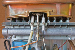 Gas water heater Stock Image