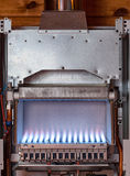 Gas water heater furnace Royalty Free Stock Photo