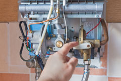 Gas water heater Stock Images