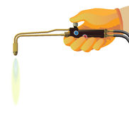 Gas welding. Image of a gas welding machine on a white background Stock Photo