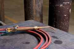 Gas Welding Torch Royalty Free Stock Photography