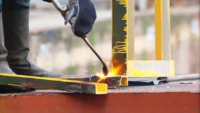 Gas welding stock video footage