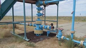 Gas wells. stock footage