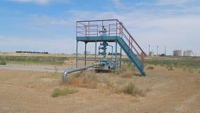 Gas wells. stock video