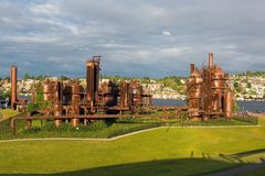 Gas Works Park in Seattle Washington Royalty Free Stock Photography