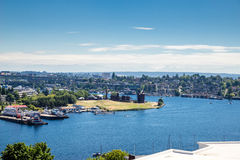 Gas Works Park on Lake Union Stock Photos