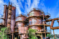 Gas Works Park Seattle. The abandon plant at Gas Works Park in Seattle Stock Photos