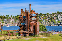 Gas Works Park Seattle. The abandon plant at Gas Works Park in Seattle Stock Image