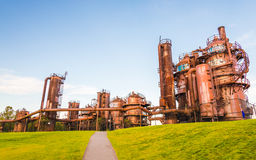 Gas Works Park in sunny day almost sunset, Seattle,Washington,US Stock Images