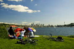 Gas Works Umbrella Party Royalty Free Stock Photo
