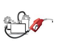 gas y diseño industrial del ejemplo del concepto del aceite ilustración del vector