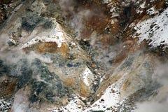 Gas y vapor de Volcaninc en el monte Fuji, Japón Imagen de archivo