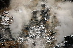 Gas y vapor de Volcaninc en el monte Fuji, Japón Fotografía de archivo