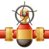 Gas-Zeile Stockfotografie