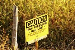 Gas-Zeile Zeichen Stockfoto