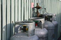 Gas-Zylinder Lizenzfreie Stockbilder