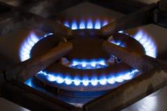 Gasa gasbrännareugnen Arkivbild