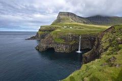 Waterfall near Gasadalur, Faroe Islands.
