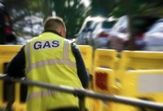 Gasarbeitskraft im Stadtzentrum Lizenzfreies Stockbild