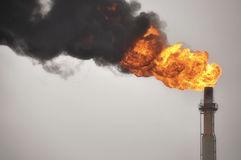Gasaufflackern Stockbild