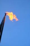 Gasaufflackern Stockfoto