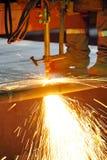 Gasausschnitt des heißen Metalls Lizenzfreies Stockbild