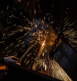 Gasausschnitt des Metalls Lizenzfreie Stockbilder