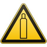 Gasballon De aandacht is gevaarlijk Meer ondertekent in mijn portefeuille Voorzorgsmaatregelen inzake veiligheid Gele driehoek me stock illustratie