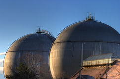 Gasbehälter stockfoto
