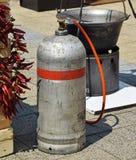 Gasbehälter und -großer Kessel Lizenzfreies Stockfoto