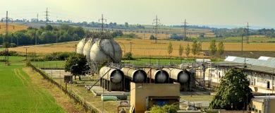 Gasbehållare Gaslagring Naturgaslagringsbehållare, olje- behållare Royaltyfri Bild