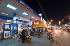 Gasbensinstation, Saigon Royaltyfri Bild