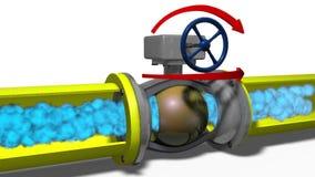 Gasbeweging op een aardgasleiding stock footage